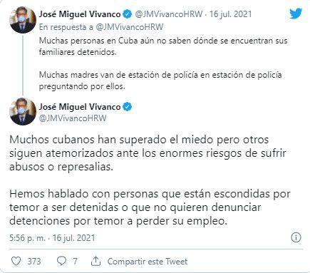 (Twitter/@JMVivancoHRW)