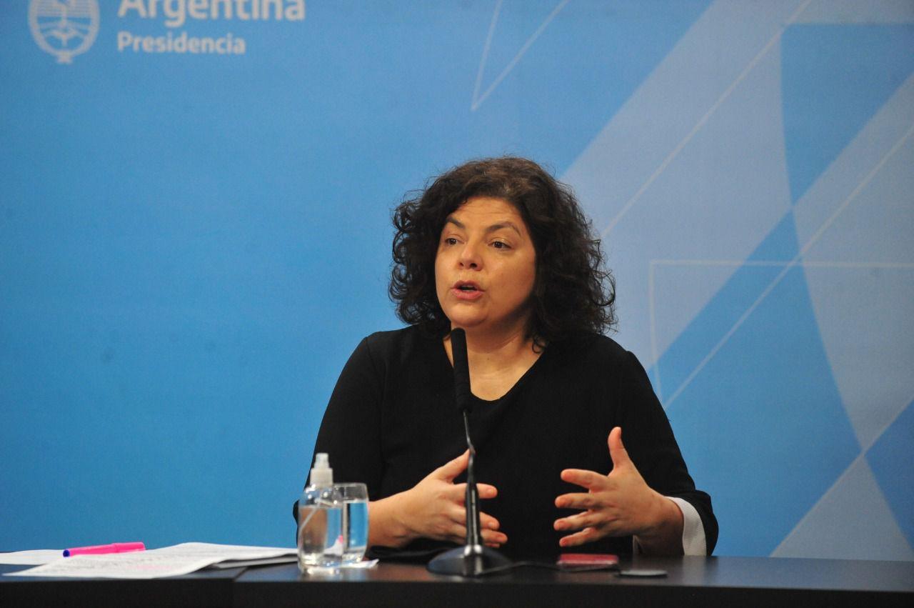 Carla Vizzotti en conferencia de prensa. (Foto: Archivo Clarín)