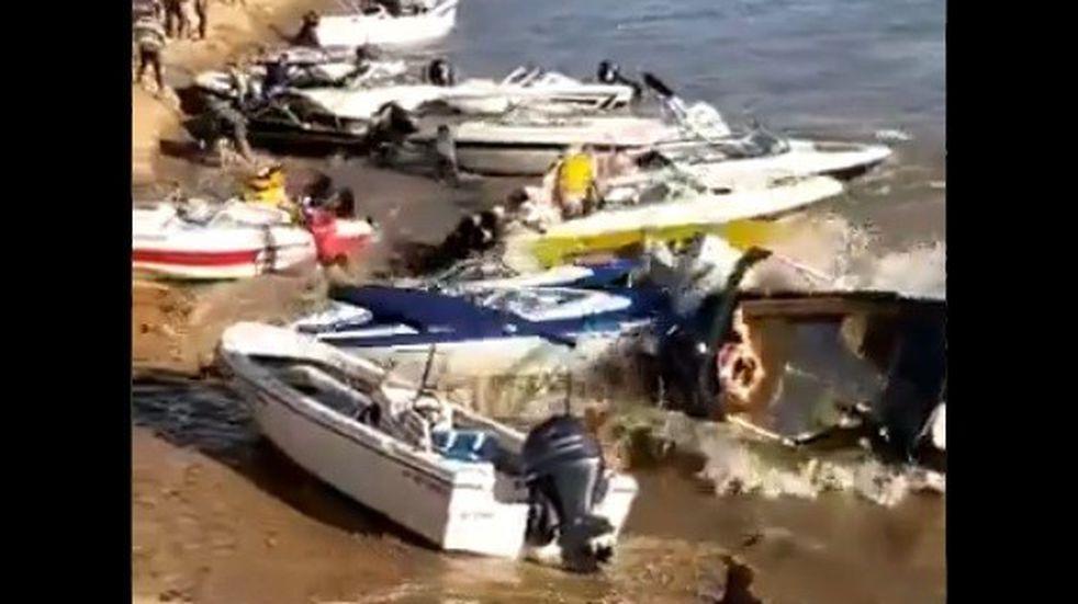 Miedo y destrozos por una ola en el río Paraná: las explicaciones del fenómeno