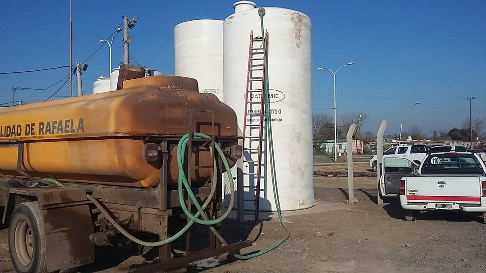 El Municipio sumó dos nuevos tanques de almacenamiento de agua