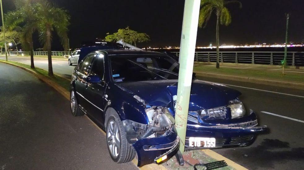 Accidente vial en la Costanera de Posadas