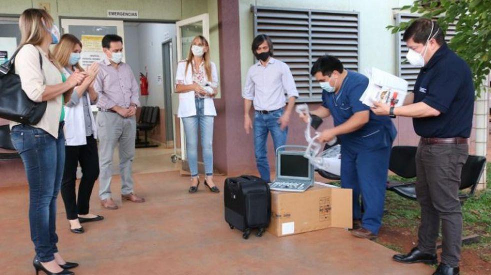 El hospital de Montecarlo recibió equipos de Salud Pública