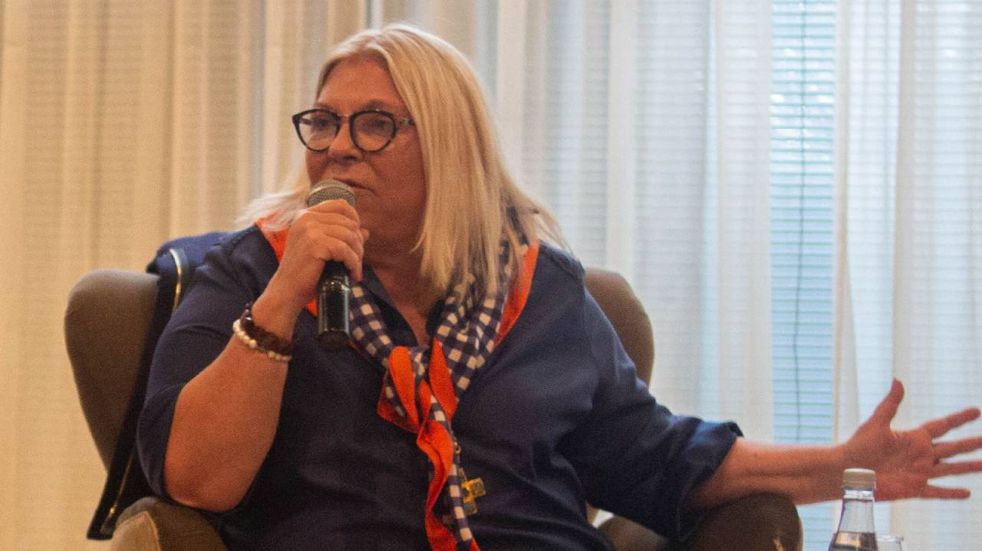 Lilita Carrió estuvo en Rosario y criticó con dureza a Federico Angelini. (@elisacarrio)