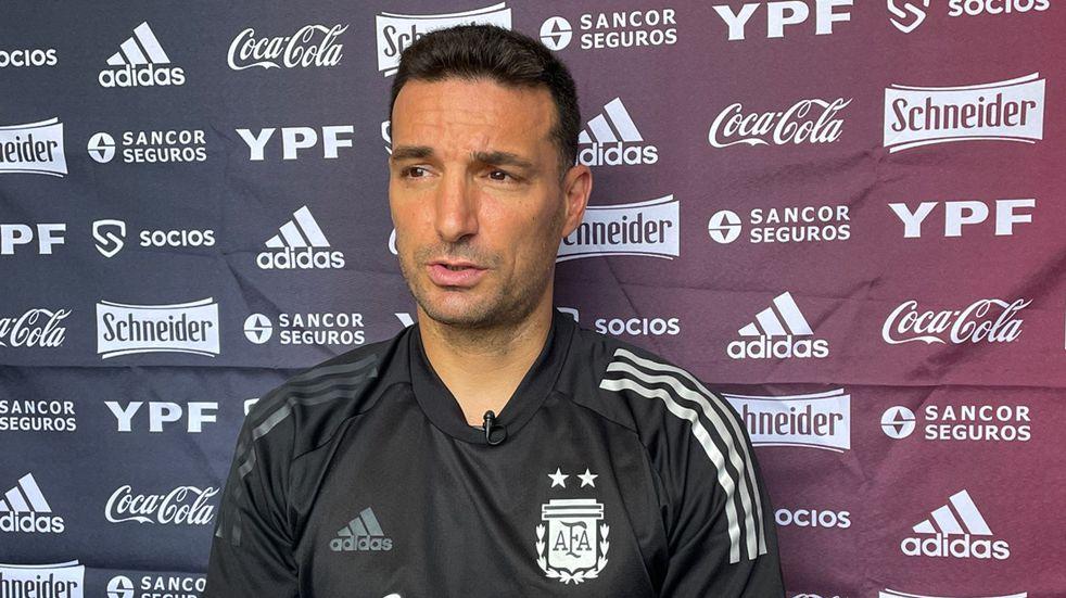 Lionel Scaloni habló en conferencia de prensa antes del partido contra Perú. (@Argentina)