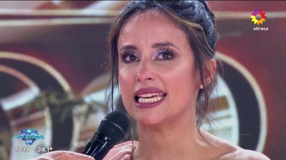 Tras un ensayo accidentado, Lourdes Sánchez quebró en llanto al volver a la pista del Bailando