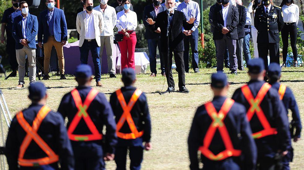 Pusieron en funciones a 60 nuevos policías en Villa de Merlo