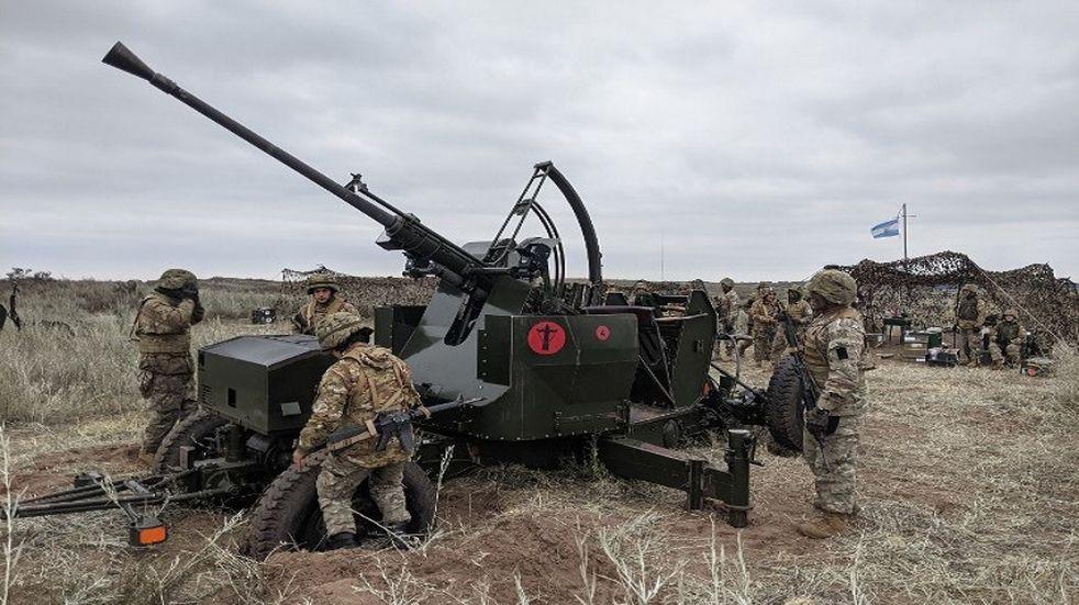 Base Baterías: batallón Antiaéreo llevó a cabo actividades de tiro