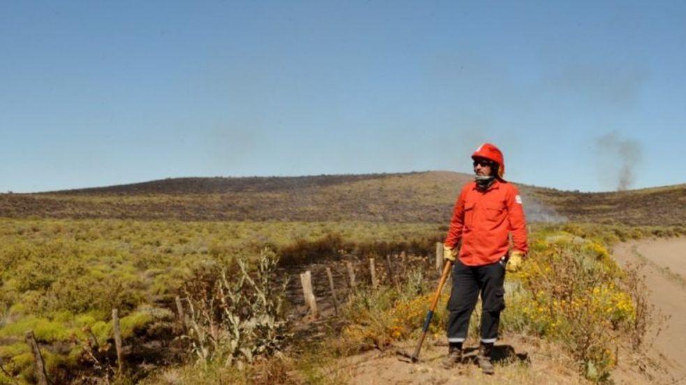 Arroyo Pescado: se logró contener el incendio pero se sigue trabajando