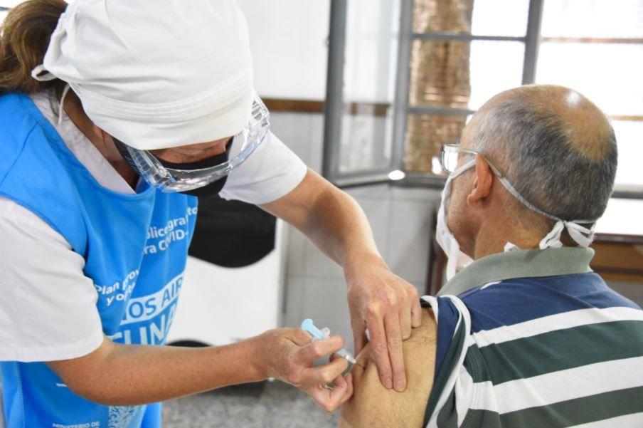 Vacunación contra el coronavirus en la Provincia de Buenos Aires.