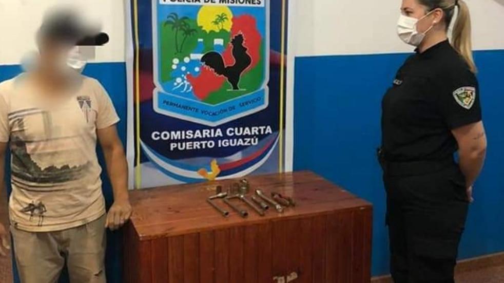 Joven autor de robo terminó detenido en Puerto Iguazú