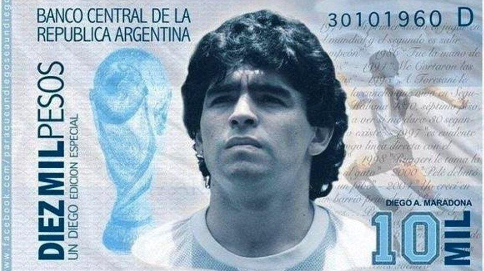 Jorge Lanata denunció el negocio millonario de los billetes con la cara de Diego Maradona