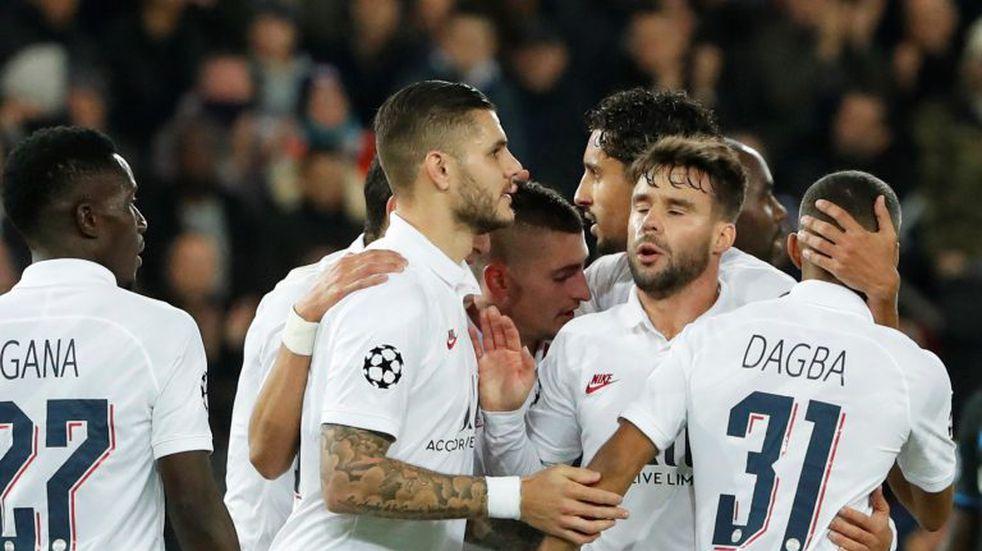 Champions League: con gol de Mauro Icardi, PSG venció 1-0 a Brujas y avanzó a octavos