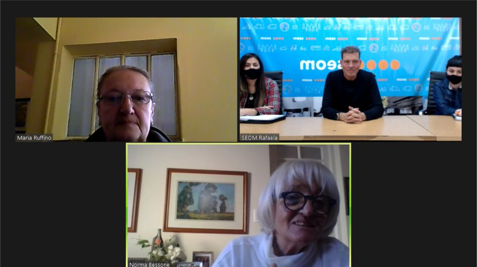 Darío Cocco, en reunión virtual con la Sociedad Rural