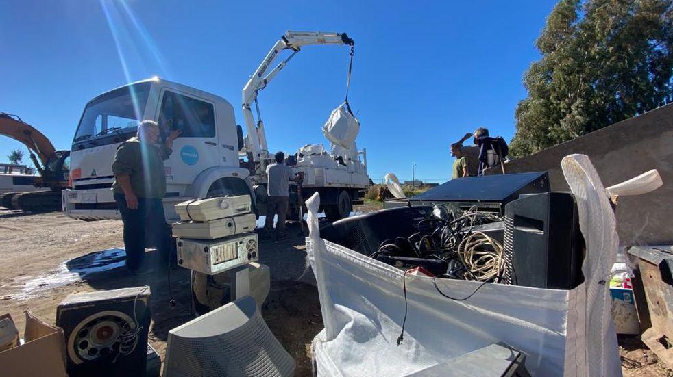 Campaña: recolectaron 16 metros cúbicos de residuos eléctricos y electrónicos
