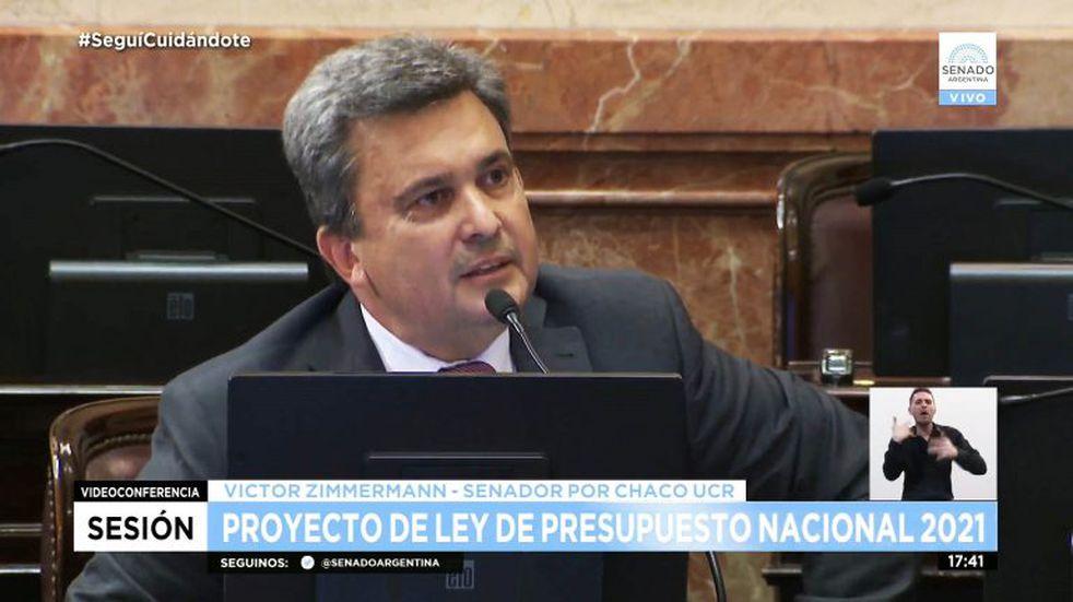 Presupuesto 2021: Zimmermann defendió al campo y a las obras para el Chaco