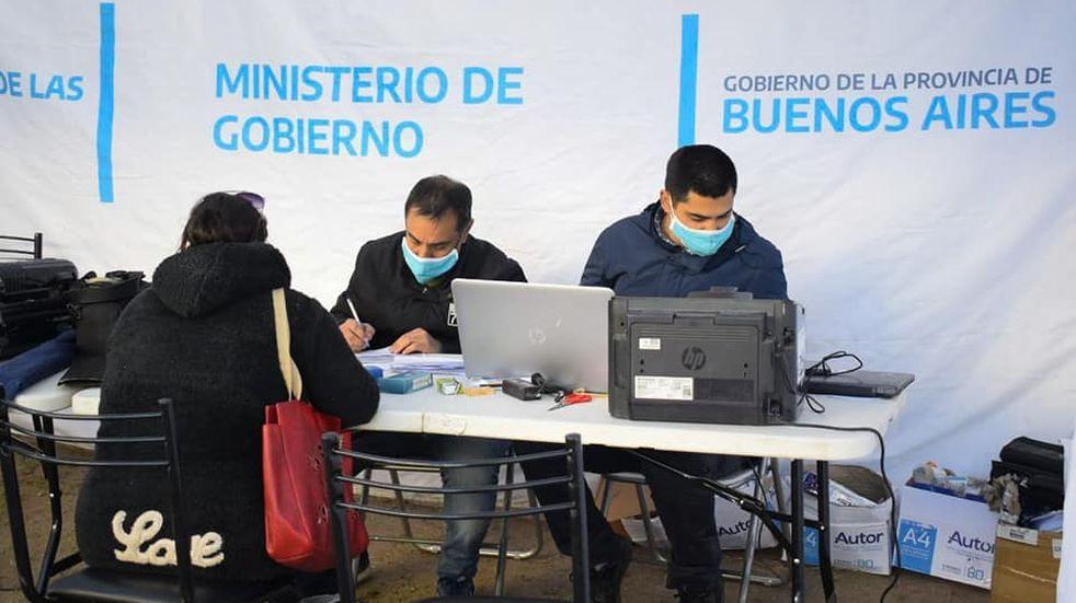 Operativo de documentación en Punta Alta