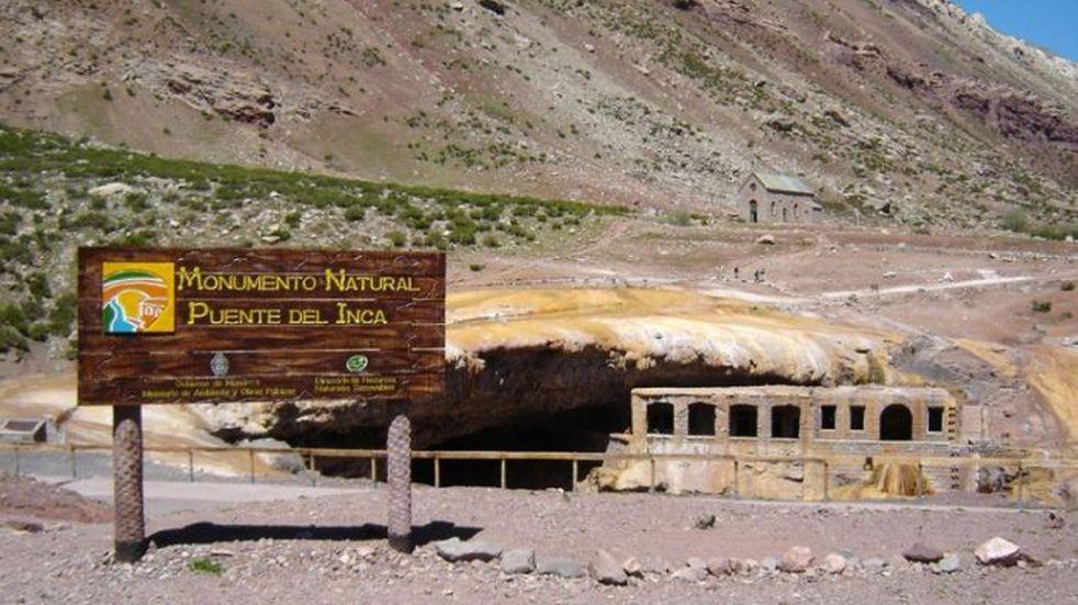 Esta semana comienzan las tareas de limpieza en el Puente del Inca
