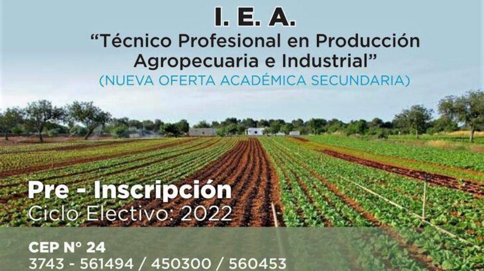 La localidad de Puerto Rico contará con una nueva oferta educativa: una Escuela Agrotécnica.
