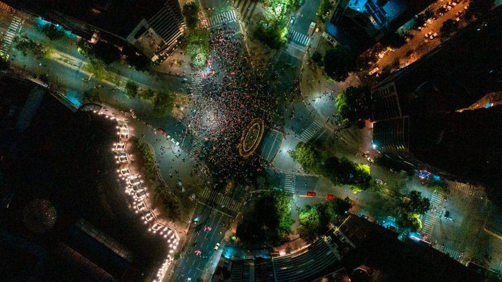 Desde otro ángulo: fotones de la celebración en Córdoba por River campeón