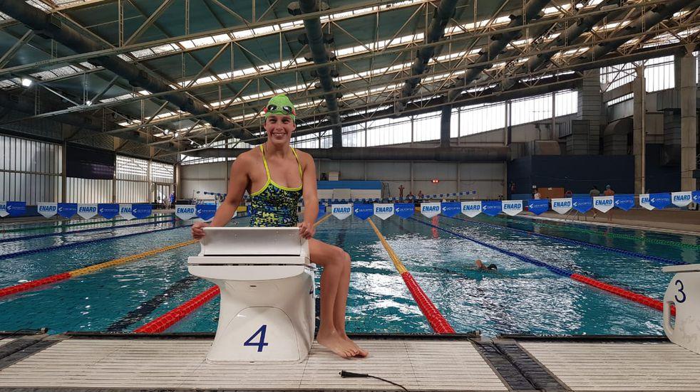 Elizabeth Noriega de Arroyito participó del Open de natación adaptada y paralímpica del COPAR