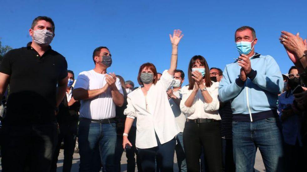 Patricia Bullrich acompañó a los precandidatos sanjuaninos y otra vez apuntó contra Alberto Fernández