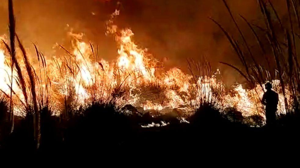 Pérez: cuatro focos de incendios en un solo día