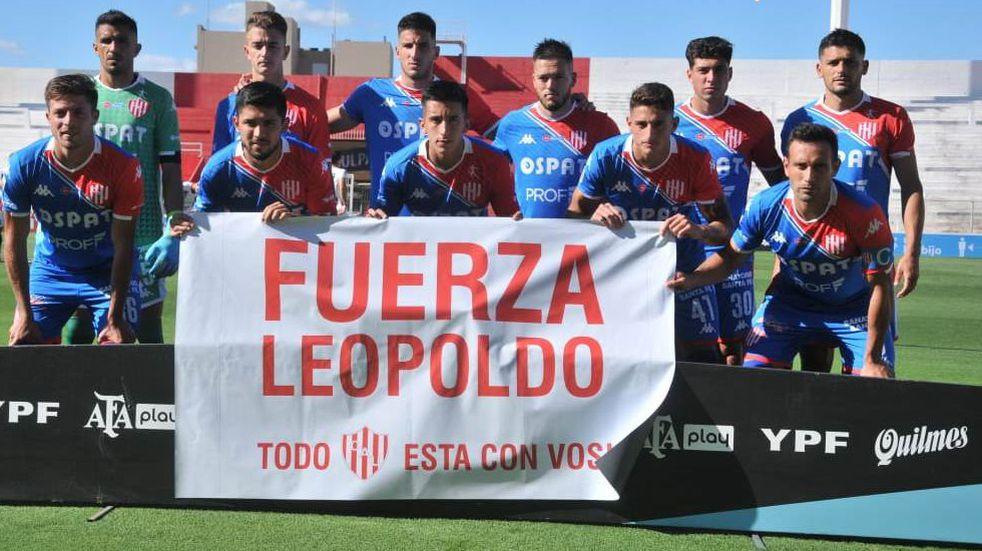Los jugadores de Unión le enviaron su apoyo a Leopoldo Jacinto Luque