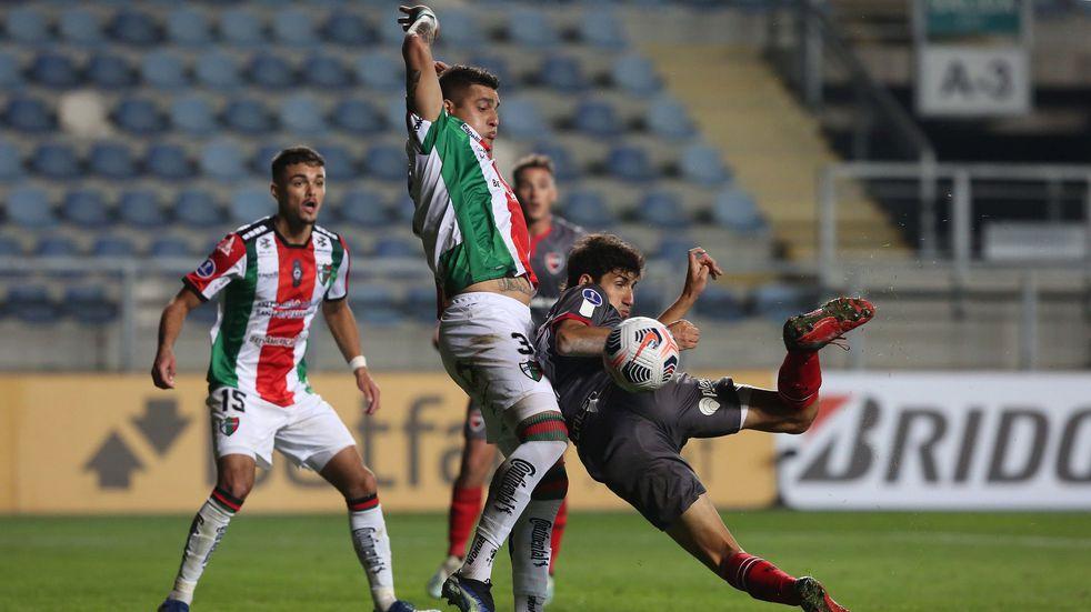 Newell's sufrió pero venció a Palestino sobre el final en la Copa Sudamericana