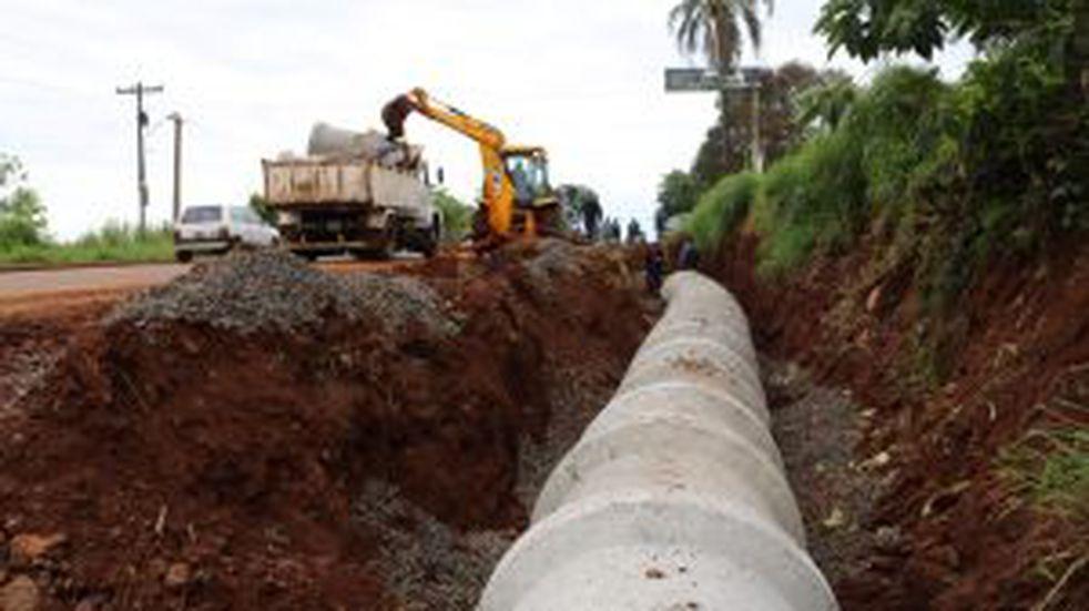 Oberá: avanzan con obras en infraestructura urbana y saneamiento hídrico