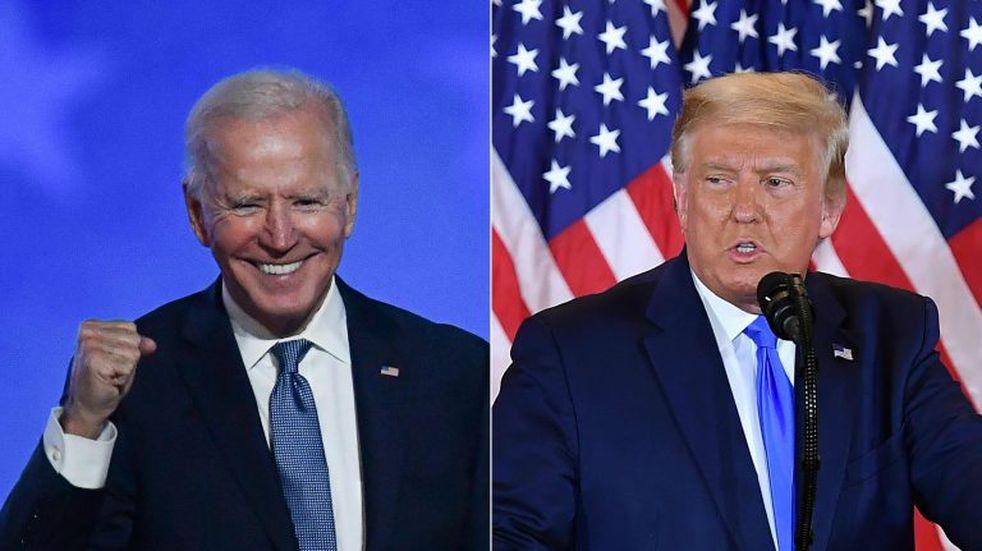 Donald Trump anunció la reapertura de las fronteras aéreas y Joe Biden lo desmintió