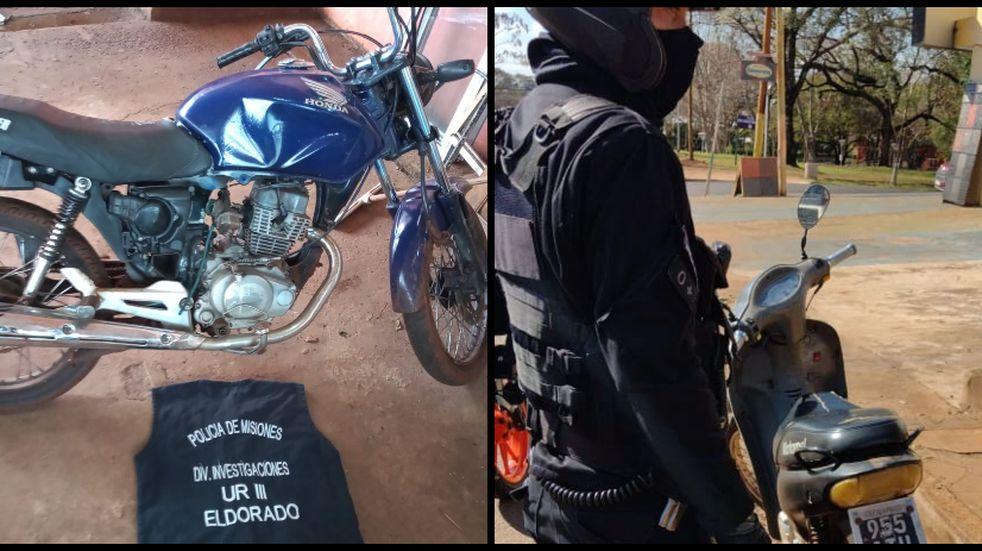 Varias motocicletas con pedido de secuestro fueron recuperadas en Eldorado y San Pedro