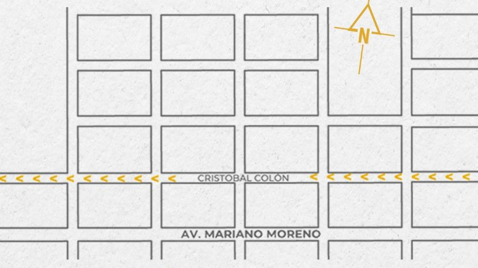 La calle Colón pasará a tener mano única Este-Oeste entre la Av. Pontín y la Av. José Boetto