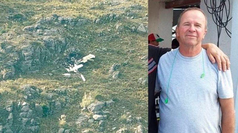 Encontraron muerto al piloto cordobés que cayó con su avioneta en San Luis
