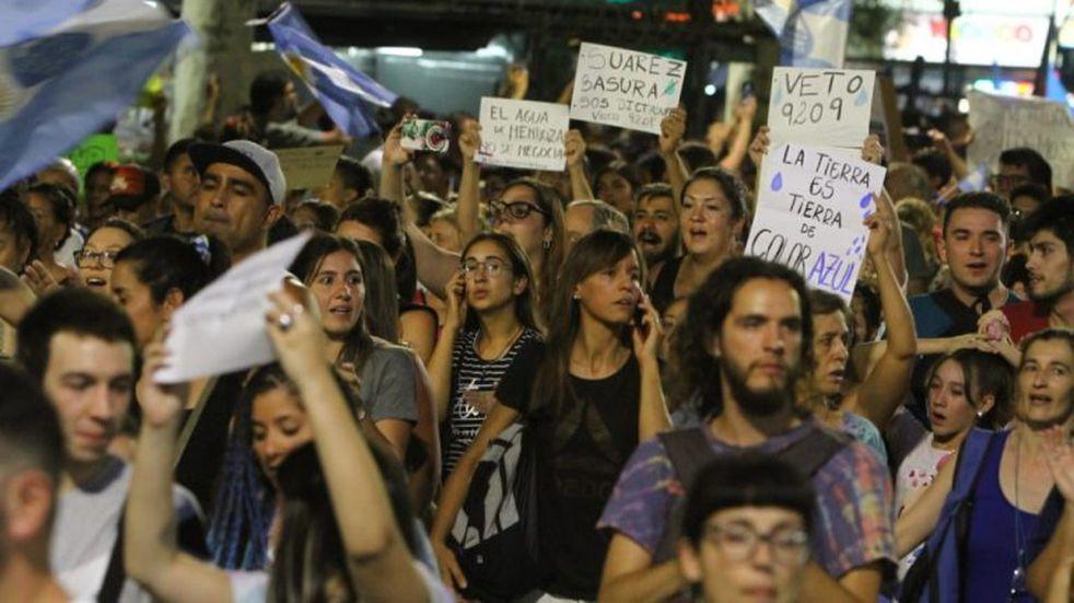 Continuarán las manifestaciones hasta la derogación de Ley 9.209