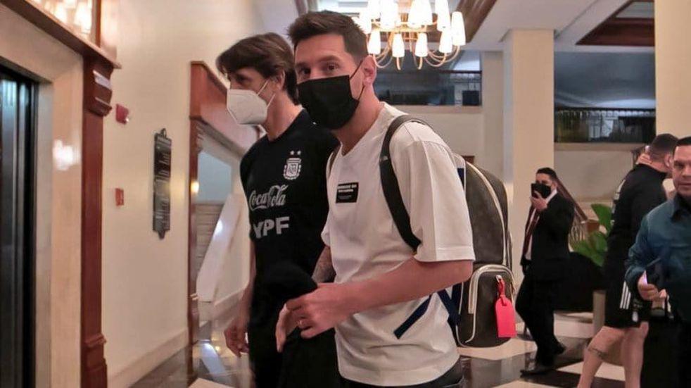 Lionel Messi llegó a Caracas y se sumó a la Selección Argentina