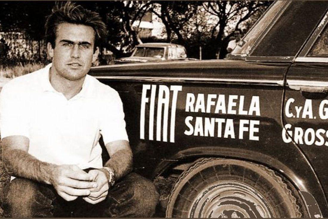 Sus comienzos. Carlos Reutemann y el Fiat 1500 del debut en Córdoba (La Voz).
