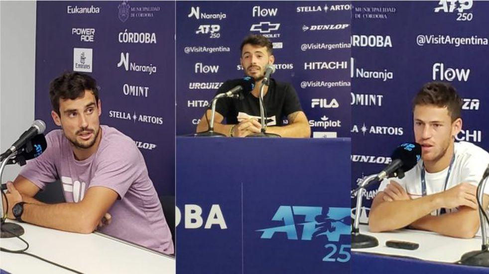 Córdoba Open: Juan Londero, Diego Schwartzman y Guido Pella vivieron la previa de su participación