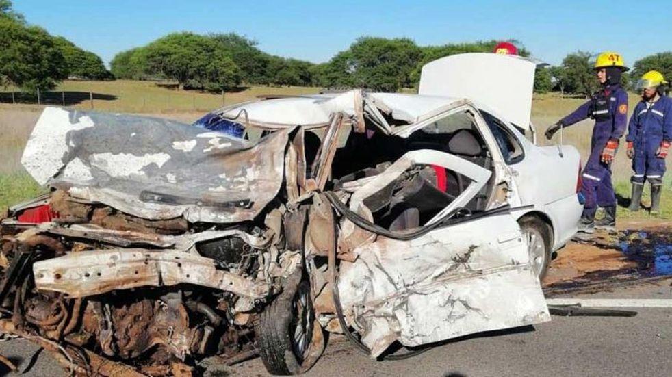 Tragedia cerca de Santa Rosa: cinco fallecidos en un choque en la Ruta 35