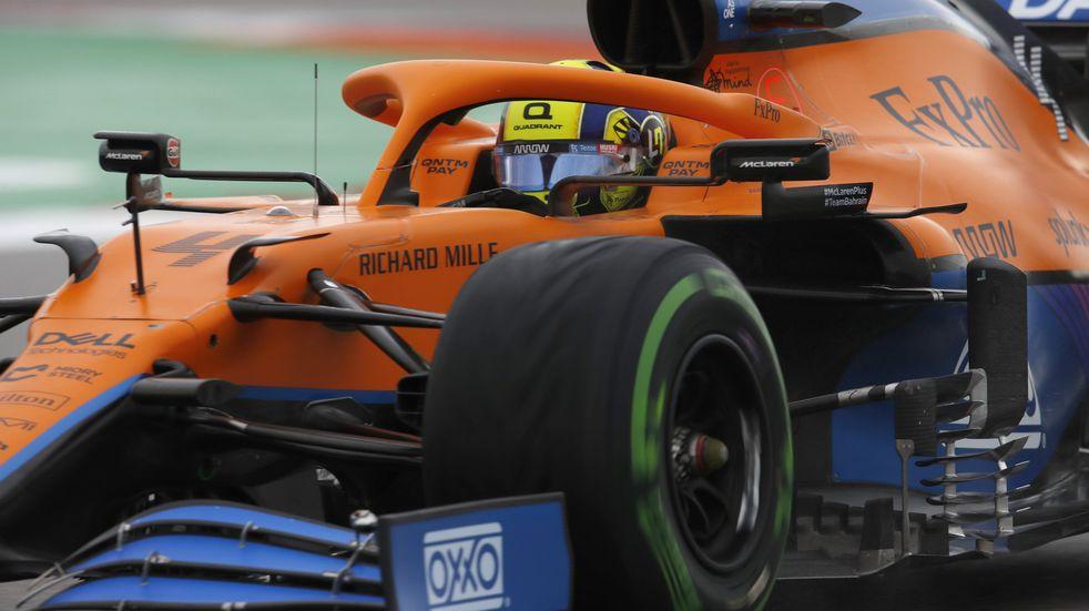 Norris celebró su primera pole en Fórmula 1.