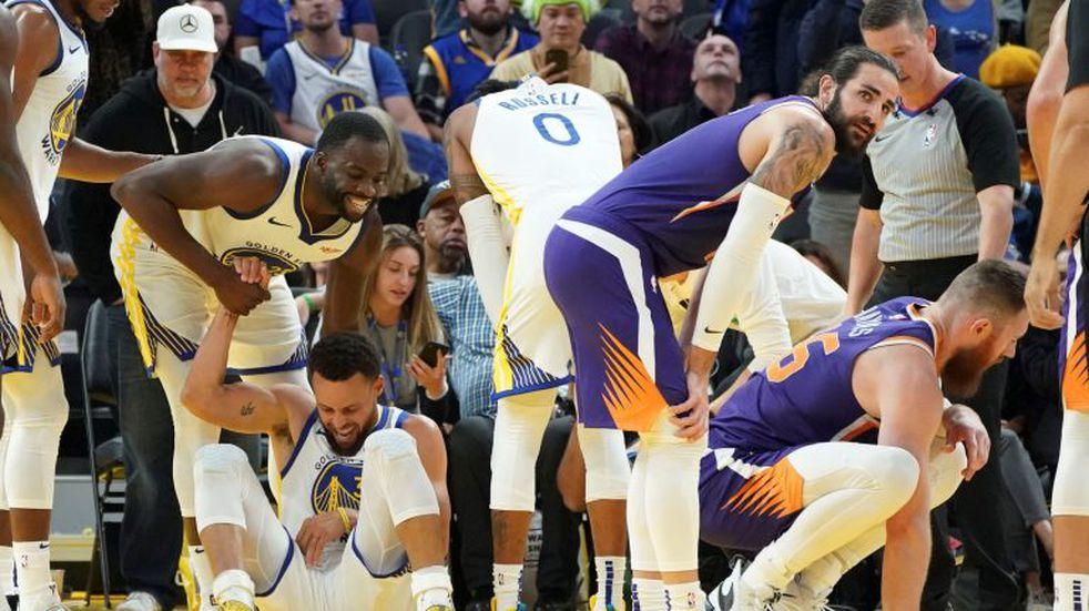 El impresionante video del momento en que Stephen Curry se fractura la mano izquierda