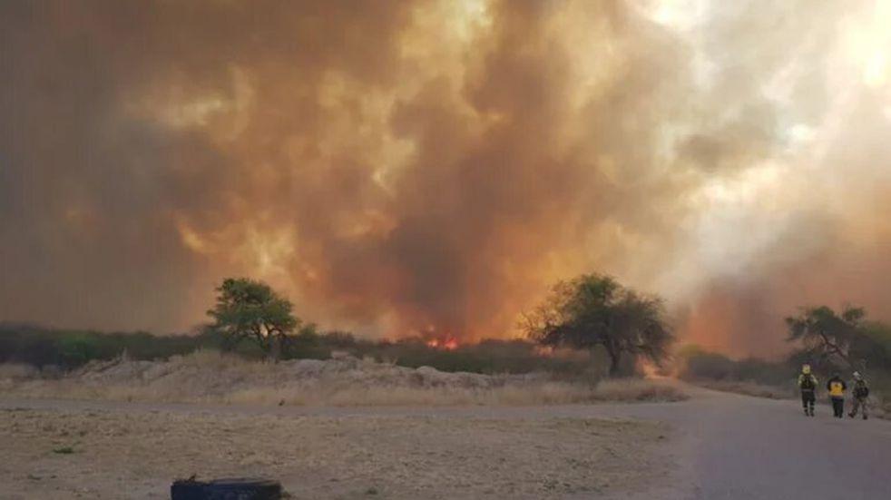 Incendio en el norte de San Luis