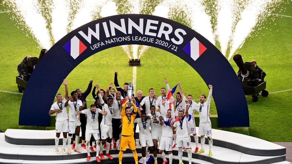 Francia se consagró campeón de la Liga de las Naciones tras vencer a España por 2-1.