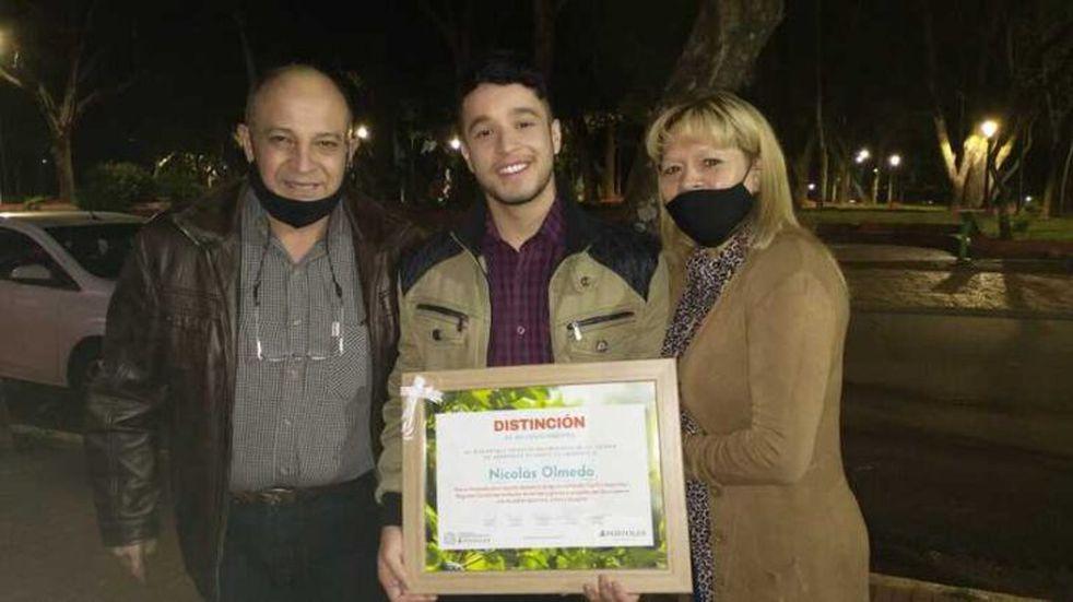 Nicolás Olmedo, finalista de La Voz Argentina volvió a Apóstoles y fue recibido con una fiesta