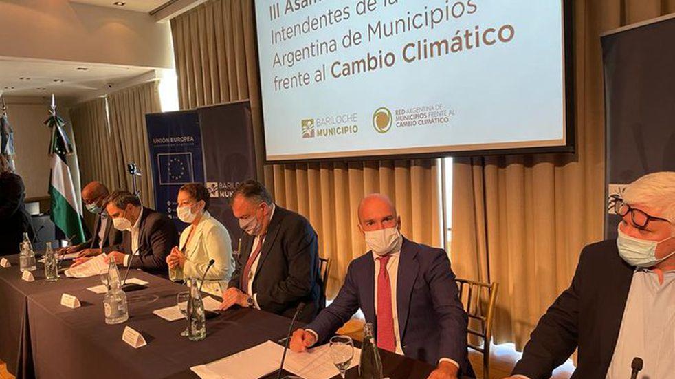 Soldini participó de la 3° Asamblea Nacional de Intendentes en Bariloche (Twitter RAMCC)