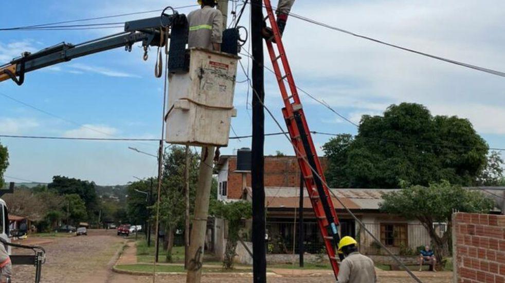 Puerto Iguazú: 300 familias gozarán de servicio eléctrico