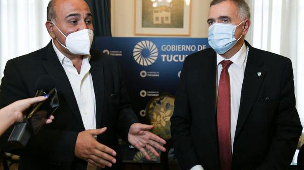 Manzur se reunió con Jaldo en Casa de Gobierno.