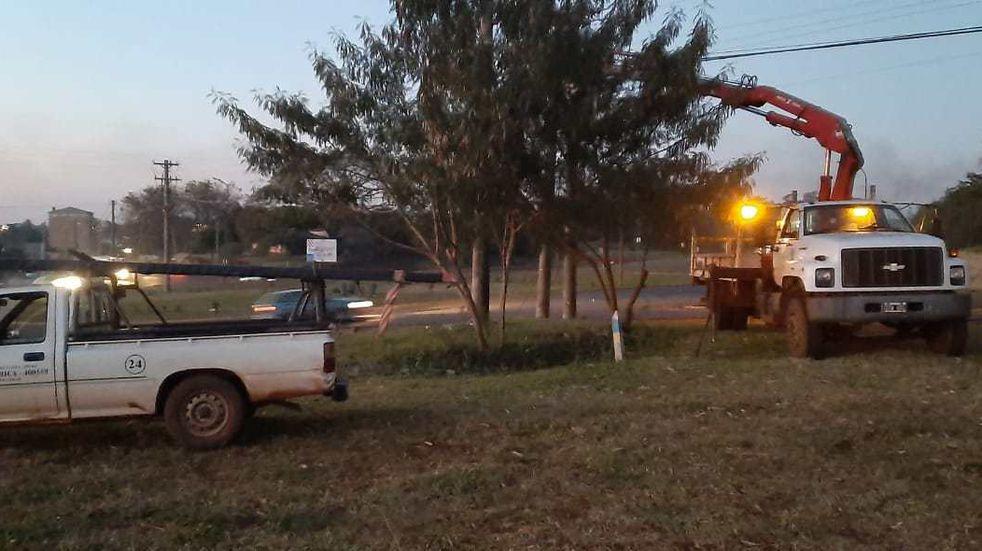 Oberá: un hombre incendió un poste de luz y gran parte de la ciudad terminó sin suministro