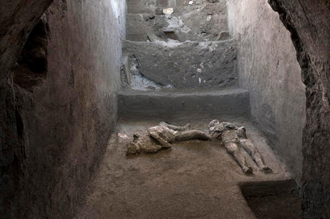 Descubrimiento arqueológico: hallan en Pompeya los restos de dos víctimas  de la erupción del Vesubio