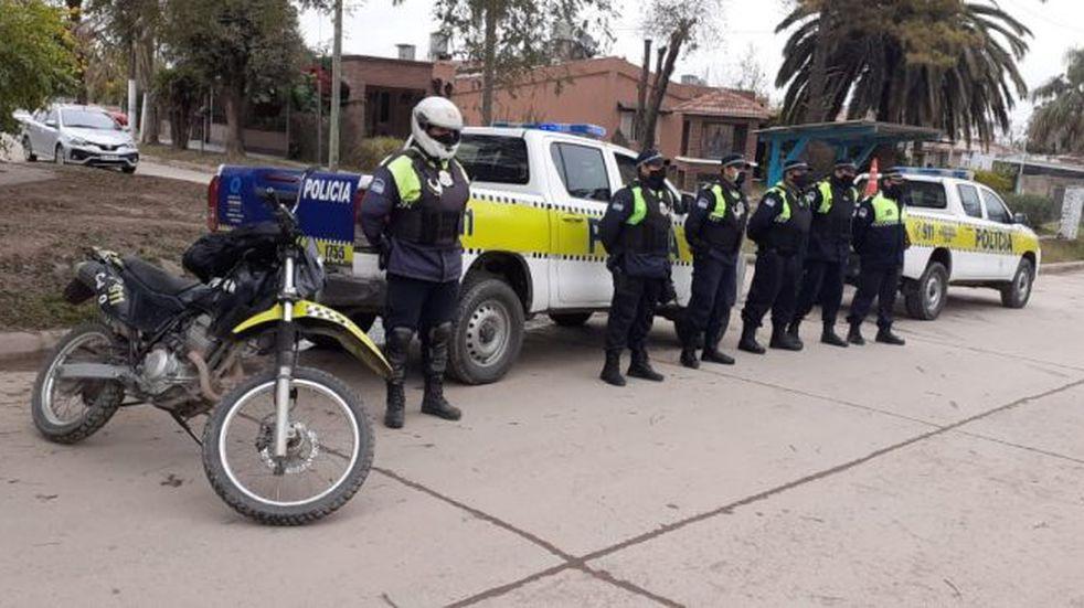 Durante el fin de semana más de 200 policías recorrieron la Capital provincial