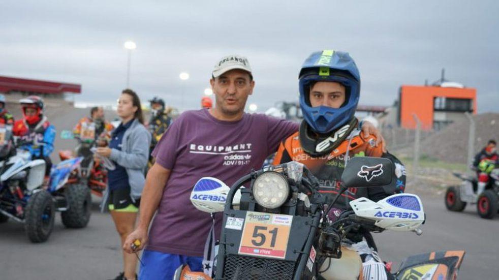 Andrés Frini se ubicó tercero en el primer día del South American Rally Race